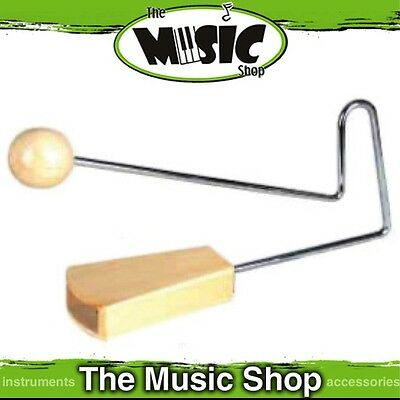 New Mano Percussion Vibraslap - Metal Handle with Wooden Ends - ED439