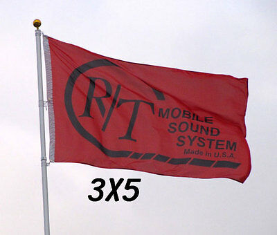 Custom Print Full Color Flag Two Grommets Banner Sign Display One Sided 3'x5'