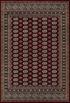 BURGUNDY RED Traditional Geometric BOKHARA Design QUALITY Rug S- XL Large 30%OFF