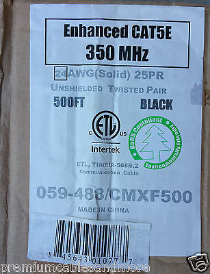 Vertical Cable CMXF25P 24/25P 25 Pair Cat5E Backbone Direct Burial/Flooded /20ft
