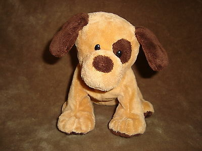 """TY 2010  PLUFFIES DOG  brown with eye spot named Barkers 8"""" TALL"""