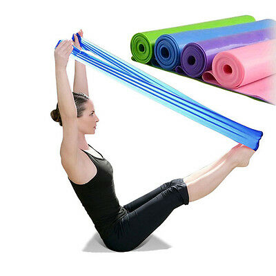 New 1.2 m Elastic Yoga Pilates Rubber Stretch Resistance Exercise Fitness Band