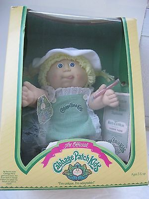 Rare Official Vintage Cabbage Patch Kids Doll Really Cute!1985