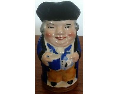 """WH Goss Hand Painted Full Colour Miniature 4"""" Toby Jug Heardy Good Fellow"""