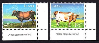 Iceland 2003 Cattle Set 2 MNH
