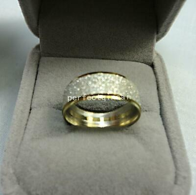 Nice Frosted golden stainless steel ring jewellery for women men free shipping