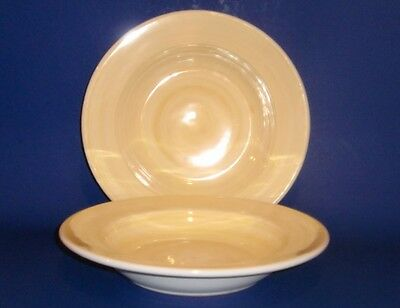 Caleca - Hand Painted Yellow -  Soup / Pasta Bowls - Set of TWO - 2 -
