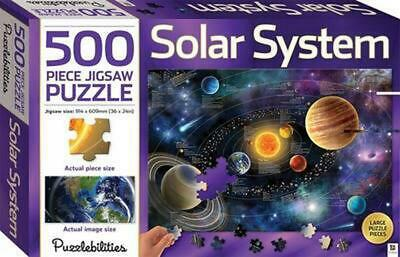 Solar System 500 Piece Jigsaw Puzzle Novelty Book Free Shipping!
