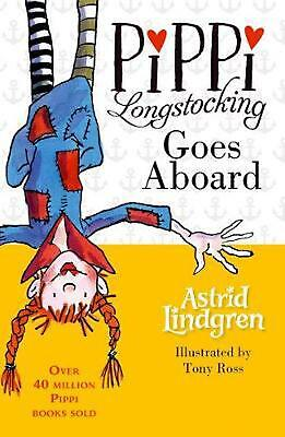 Pippi Longstocking Goes Aboard by Astrid Lindgren Paperback Book Free Shipping!