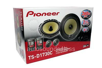 "NEW Pioneer TS-D1730C 130 Watts 6.75"" Component Speakers 6-3/4"" 6x9"" Adapters"