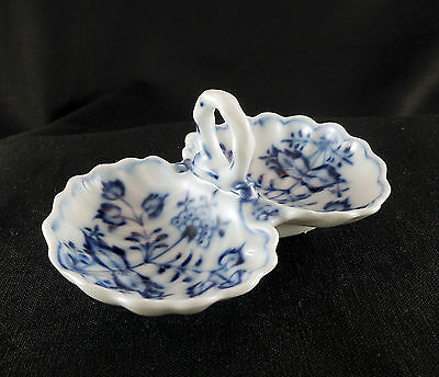 Meissen Blue Onion Double Shell Dish Salt Sweets OR Nuts