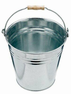 Harris Victory Galvanised Pail 12L - stronger than plastic bucket carry hot ash