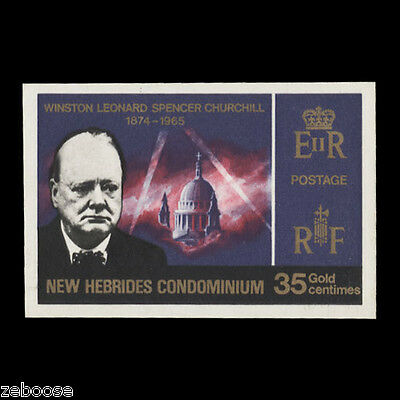 New Hebrides 1966 (MNH) 35c Churchill Commemoration imperforate essay