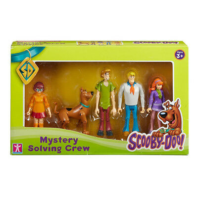 New Scooby Doo Mystery Solving Crew 5 Figure Articulated Pack