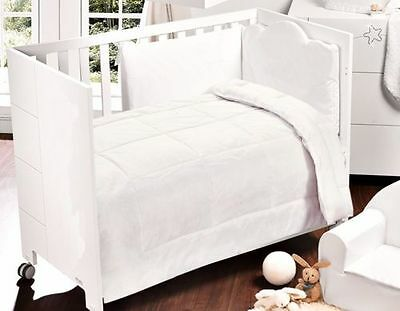 LUXURY COTTON White Boys & Girls COT DUVET/QUILT  4.5/7.5/9.0 TOG 100X120 CM