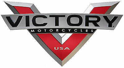 """Victory Motorcycles Usa """"v"""" Decal - Set Of 2"""