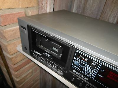 Silver ULTRX RD-C11 Dolby Stereo Cassette Tape Deck  made by Sanyo Vintage  beau