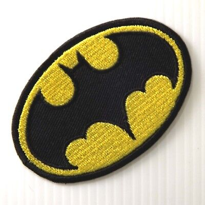 *1Pc. Batman Super Hero Embroidered Iron On Patch Badge Arm Shirt Shorts Hat Cap