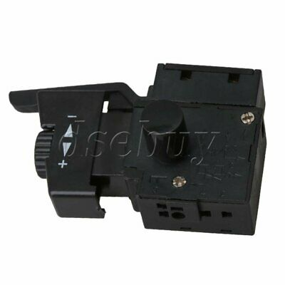 Electric Drill AC250V 6A Lock On Pushbutton Speed Control Trigger Switch Replace