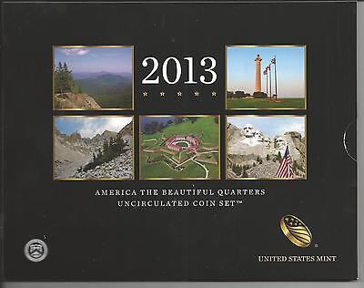 USA: America The Beautiful Quarters Uncirculated Coin Set 2013