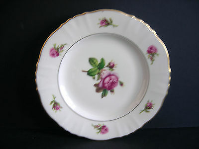 "SYRACUSE CHINA Federal Shape VICTORIA 6 3/8"" Plate, Roses, Made in USA"