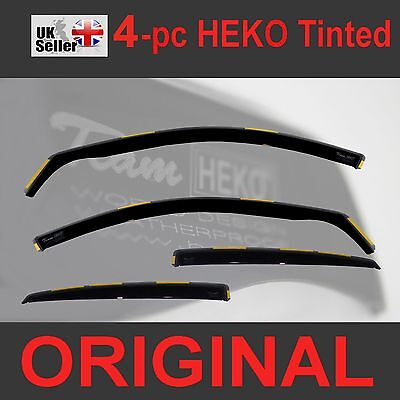 VW GOLF mk5 2004-2009 5-Doors 4-pc Wind Deflectors HEKO Tinted