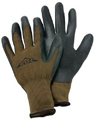 Magid 2 Pack, Glove & Safety Medium, Brown, Nitrile Coated Palm Gloves