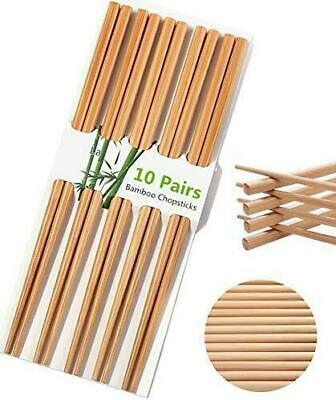 10 Pairs BAMBOO CHOPSTICKS Wooden Wood Asian Wedding Dinner Gift High Quality
