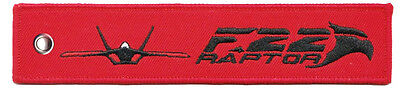 F-22 Raptor Remove Before Flight High Quality Polyester Keychain Luggage Tag