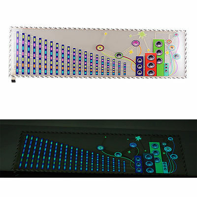 DC12V Sound Music Activated Car Sticker Equalizer LED Flash Light EL Panel 2000H