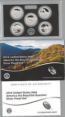 United States: America the Beautiful Quarters Silver Proof Set 2014