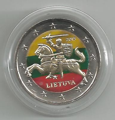2 Euro 2015 From Lithuania, Colored / Colored (J)