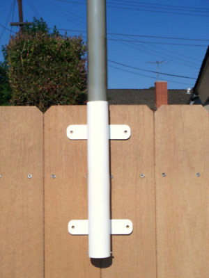 """""""WALL MOUNT"""" w/ 1.59"""" diameter fits 16' FT flag pole or 1.50"""" base rv antenna"""