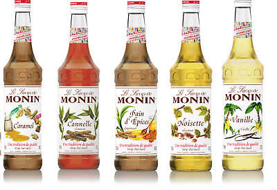 Monin Coffee Syrups - 1 Litre Bottles -  - Select Flavour