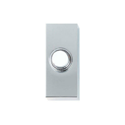 Friedland D630 Wired Bell Push Chrome / White 'Luna'