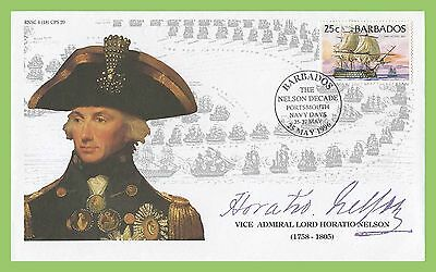 Barbados 1996 Lord Horatio Nelson Decade Commem Portsmouth Navy Days Cancel