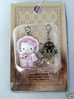 2006 Sanrio HELLO and KITTY Gothic Lolita Pink Pearl Charme Sold Only in JAPAN