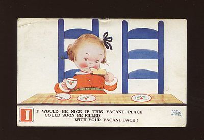 Artist MABEL LUCIE ATTWELL #1807 Used 1934 Children Birthday Meal PPC