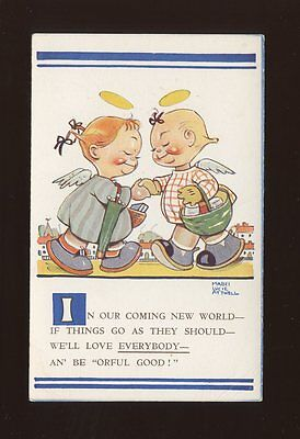 Artist MABEL LUCIE ATTWELL #797 Unused post WW1? Children angels PPC