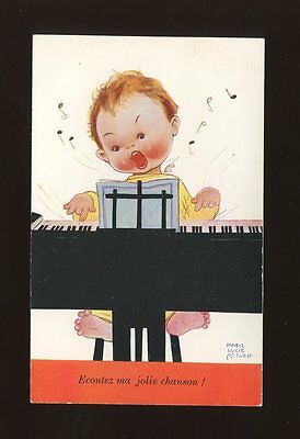 Artist MABEL LUCIE ATTWELL Children Piano #123 Used French edition PPC c1930s?