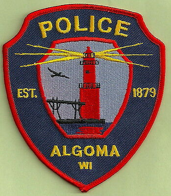 ALGOMA WISCONSIN POLICE PATCH LIGHTHOUSE