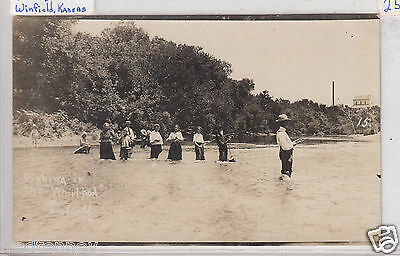 RPPC - Winfield, KS - Fishing in the Whirlpool - early 1900s