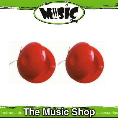 New Pair of Angel Percussion Red Plastic Finger Castanets - APC15R