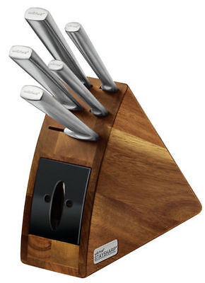 Wiltshire StaySharp Radius 6 Piece Stainless Steel Knife Block Set w Sharpener
