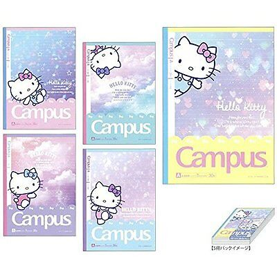 Sunstar campus notebook Hello Kitty dot-filled A ruled five books pack S2622157