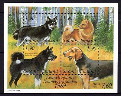 Finland 1989 Finnish Kennel Club Sheetlet 4 MNH