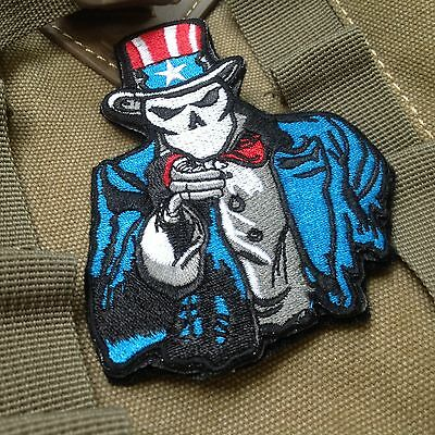 Uncle Sam I Want You MORALE AIRSOFT EMBROIDERED Hook & Loop PATCH