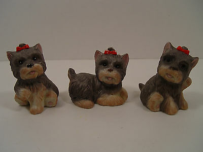 Set of 3 HOMCO Ceramic Bisque Terrier Figurines - FREE SHIPPING!