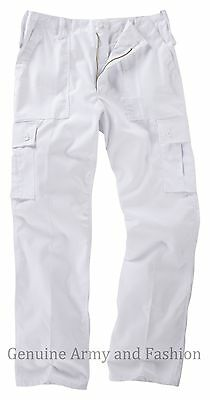 Mens Us M65 Style Combat Trouser Army Cargo Bdu Military Ranger Work White Pants