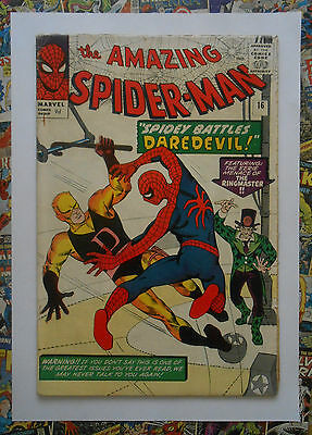 Amazing Spider-Man #16 - Sept 1964 - Daredevil Appearance!  - Vg (4.0) Pence!